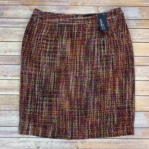 Lane Bryant Tweed Multicolor Pencil Skirt Sz 18